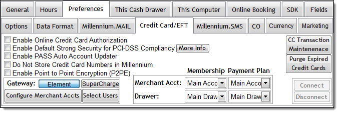 Configuring the Credit Card Processing Interface